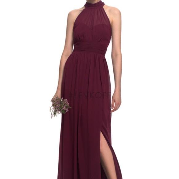 ef0cbd093d4 Bill Levkoff Dresses   Skirts - Levkoff burgundy wine Bridesmaid Dress